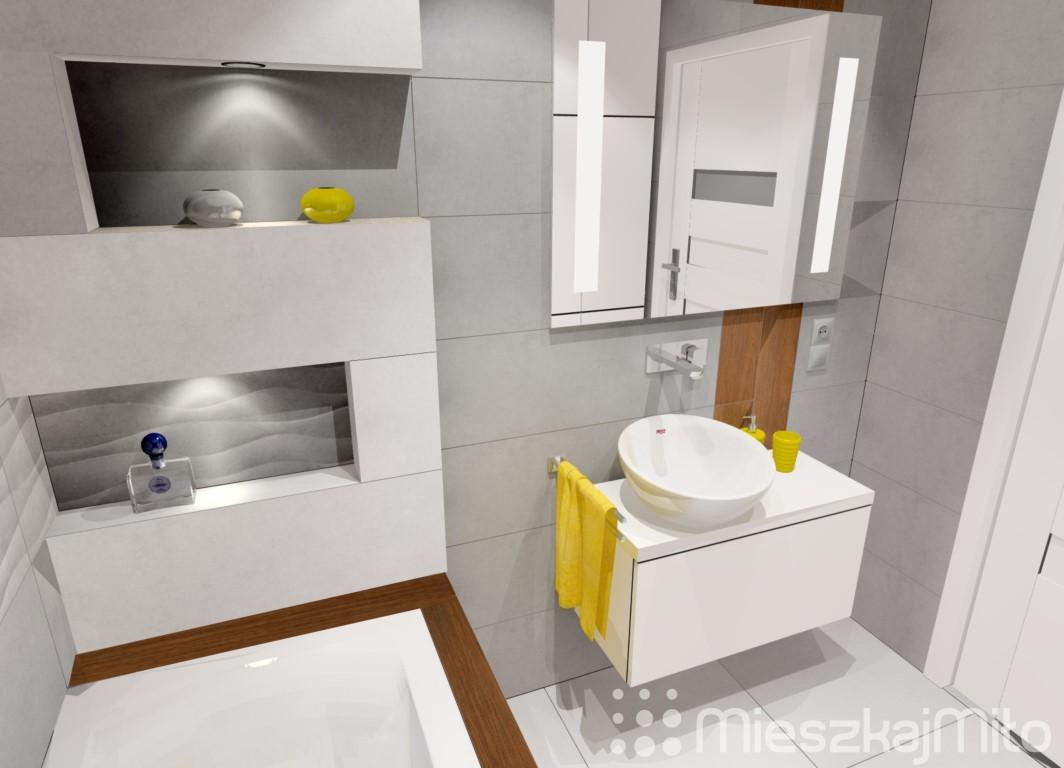 Projekt łazienki Mieszkaj Miło Aranżacja Wnętrz Na Twoje