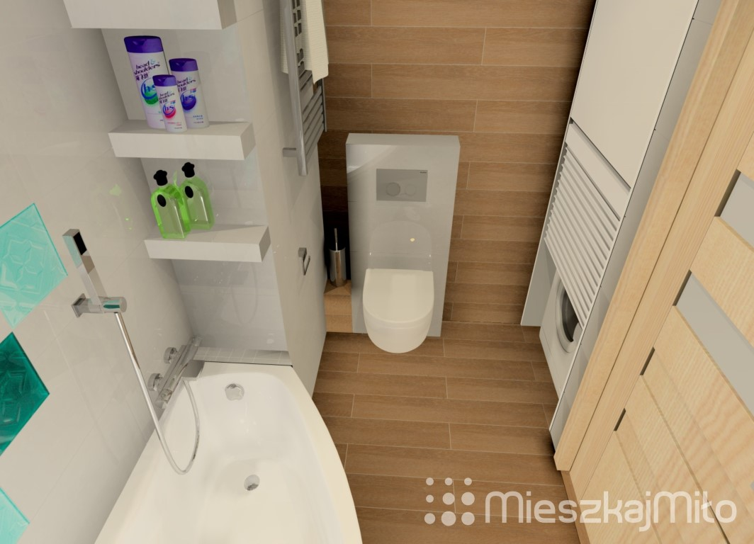 Płytki Drewnopodobne W łazience Mieszkaj Miło Aranżacja