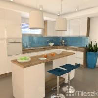 niebieski kolor w kuchni
